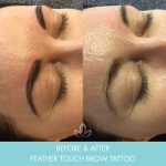 feather touch brows before and after 002 - eyebrow tattoo - Academy Face & Body