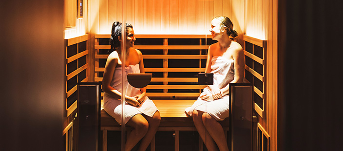 infrared sauna session at AFAB Spa - image 001